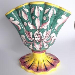 Vintage Italian hand painted five finger bud vase